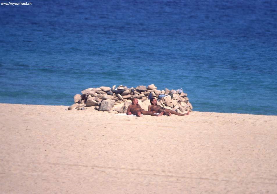 Nackte Frau Am Strand Von Brasilien