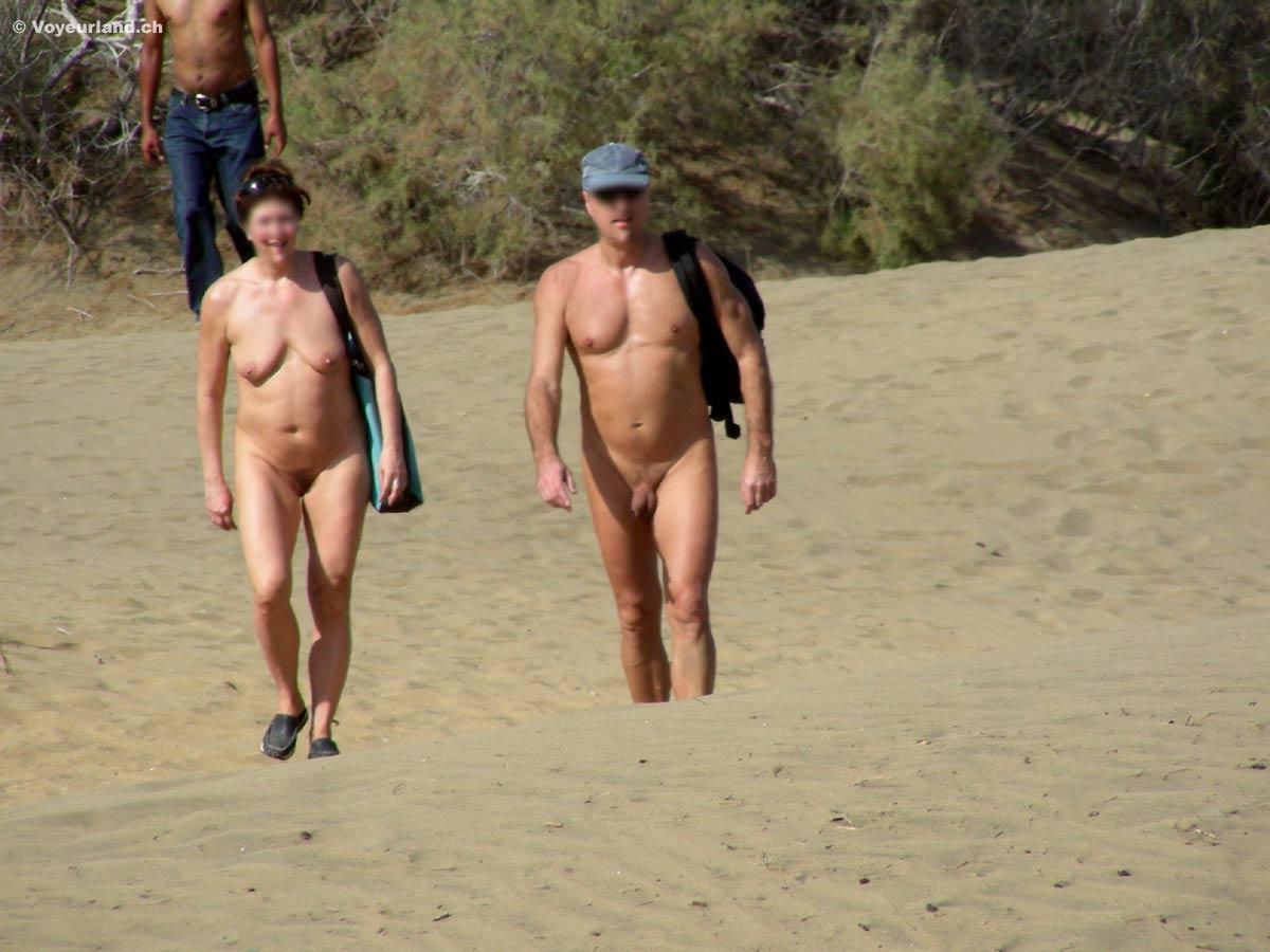 Nude woman walking scenic gui gui stock photo
