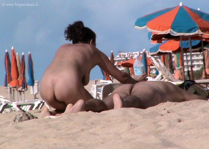 Nudist Strand Voyeur Foto