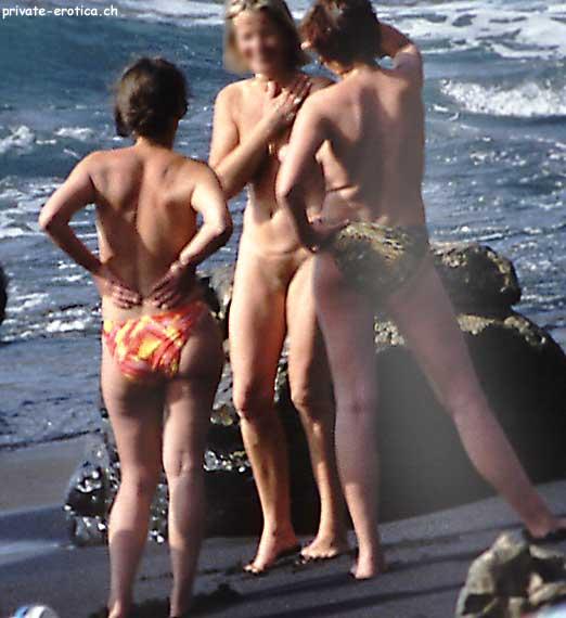 swingers on beach